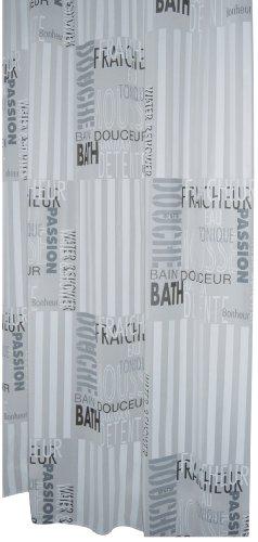 Duschvorhang mit Schriftzug aus PEVA 180 x 200 cm - Ridder thumbnail