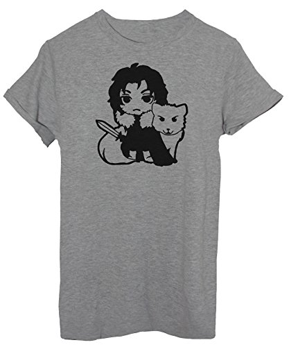 iMage T-Shirt Jon Snow Hello Kitty - Spaß Baby-XL - Grau