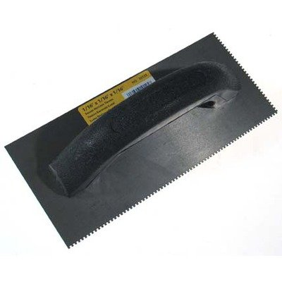 Qep Tile Tools 849-2711-8553 10125 4 x 9 Black Economy Notched Trowel, Black by Qep Tile Tools - Qep Tile Tools