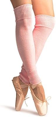 Baby Pink Plain Dance/Ballet Leg Warmers - Leg Warmers - Rosa Calentadores moda Talla unica (60 cm)
