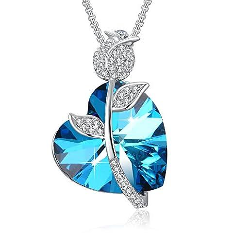 Collier Coeur PLATO H Swarovski Elements Cristal de Verre