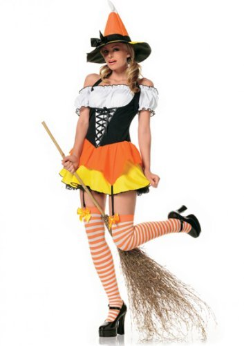 Cosplay costume candy corn witch Halloween party for adults Size: Medium (japan import)