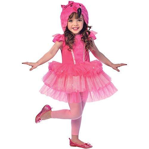 Flamingo Mädchen Kostüm - amscan 9903372 Kostüm, Rose, 3-4 Jahre