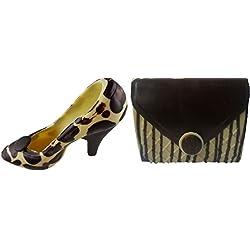 08#062718 Schokoladen Handtasche (T30) mit Schuh (S 22) Muttertag, weiße Schokolade mit dunkler Verzierung, Stöckelschuh, High Heels, Geschenk, NEU