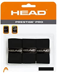 HEAD Prestige Pro - Cinta para mango de raqueta (3 unidades), color negro