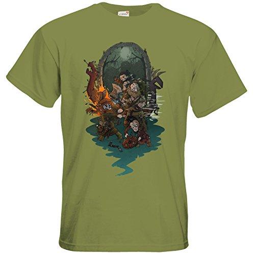 getshirts - Rocket Beans TV Official Merchandising - T-Shirt - Beards 5 Green Moss