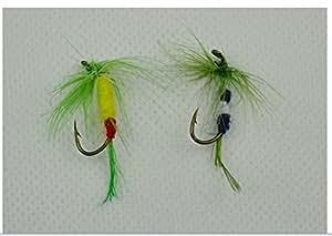 40 pcs nouvelle Double Side Fly étanche boîte emballée mouches assorties nymphes truite
