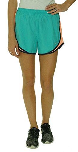 Nike Women's Mesh-Inset Tempo Shorts (XS, Aqua/ Orange)