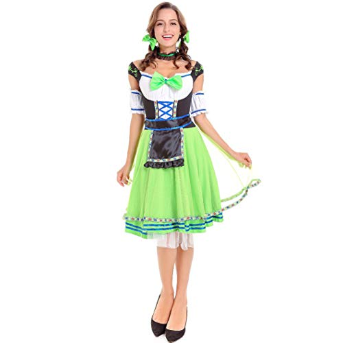 Halloween Kostüm Mädchen, Oktoberfest Cosplay, Cute Sexy Maid Kostüm, Adult Halloween Game Uniform Set (Sexy Cute Kostüme)