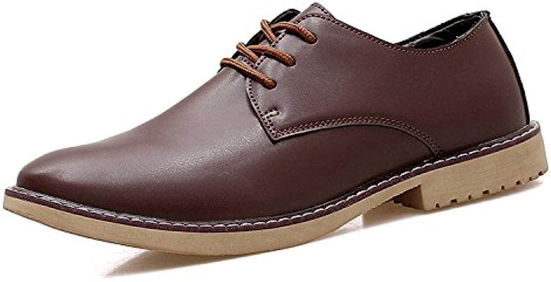 OEMPD Informal Zapatos De Cuero Juventud Negocios Informal Joker Acentuado Zapatos De Vestir -