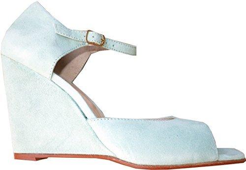 Best Connections  Sandalette, Sandales pour femme Vert - Salbei