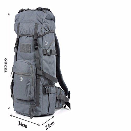 TBB-Alpinismo bag borsa a tracolla impermeabile capacità grande zaino borsa,Giallo 45L Grey 45L