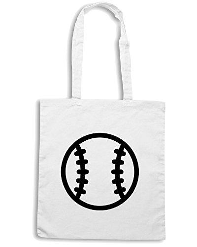 T-Shirtshock - Borsa Shopping SP0011 Baseball Games Maglietta Bianco