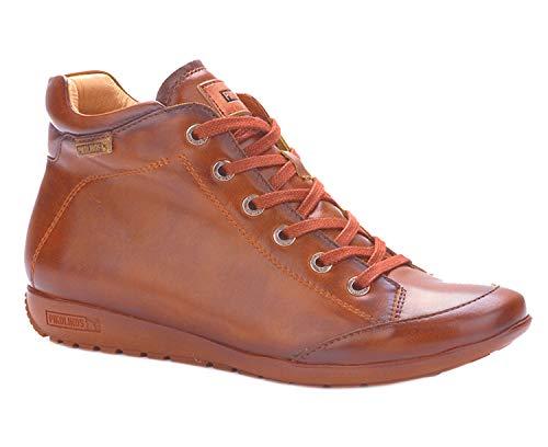 Pikolinos W67-8916 Lisboa Damen Schnürschuhe Boots Stiefeletten Leder, Schuhgröße:38 EU, Farbe:Braun