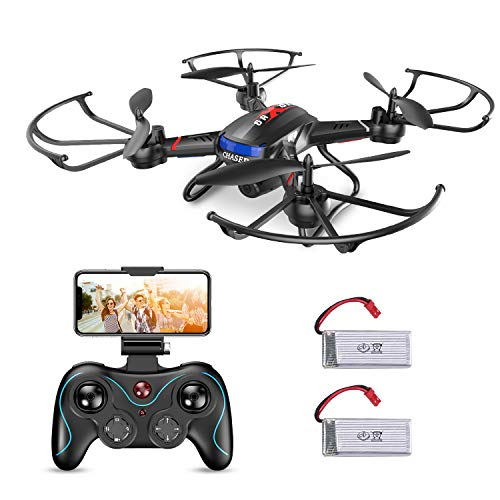 Holy Stone FPV RC Drohne mit Kamera HD 720P F181W Quadrocopter ferngesteuert mit Kamera Live Übertragung,APP Steuerung, automatische Höhenhaltung,längere Flugzeit für Anfänger und Kinder ab 8 Jahrre -