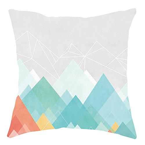 WUDUBE Geometrische Kissenbezug Taille Kissenbezug Sofa Home Decoration 45 cm x 45 cm