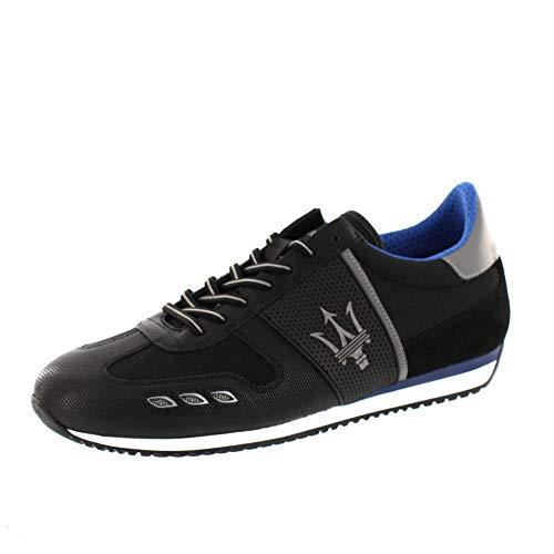 La Martina Herrenschuhe - Sneaker LFM192110 - Nero, Schuhgröße:EUR 45