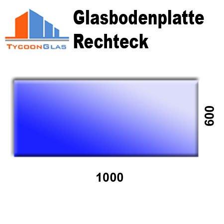Glasbodenplatte für Kaminöfen Rechteck 1000x600 6mm (Rechteck Glas)