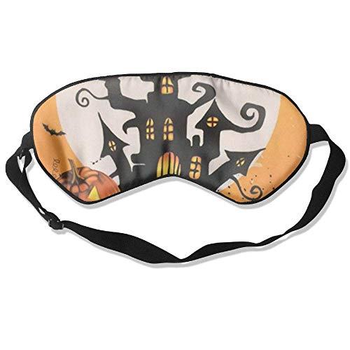 Eye Mask-Happy-Halloween-Day DIY Blindfold Blocks Light Eye Cover with Adjustable Strap ()