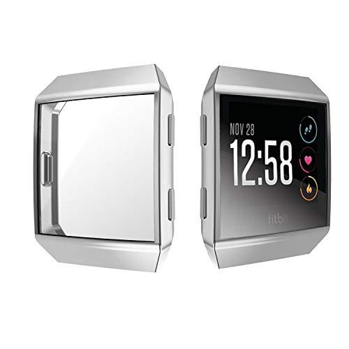 KTcos für Fitbit Ionic Displayschutz, Fitbit Ionic Hülle, TPU Schutzfolie Allround-Schutzhülle High Definition Clear Ultradünne Schutzhülle für Fitbit Ionic Smart Fitness Watch(Silber)