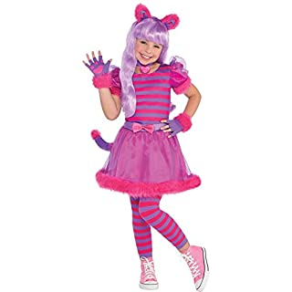 Amscan Kids Cheshire Cat Girls Fancy Dress Party Costume