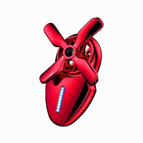 ZUEN Auto Lufterfrischer Kreative Fan Form Parfüm Clip Outlet Luftreiniger Duft Geruch Flüssigkeit Parfüm Diffusor Autos Dekoration,RedMusk - Moschus Parfüm Köln