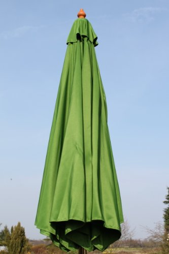 olive-grove-3m-wide-garden-parasol-in-lime-green