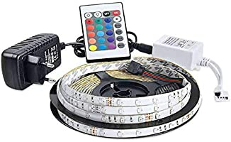 Rgb Şerit Led Seti-16 Renkli-5 Metre Şerit Led+Adaptör+Kumanda