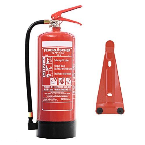 Preisvergleich Produktbild Feuerlöscher 6kg ABC Pulverlöscher DIN EN3 inkl. Andris® Prüfnachweis &. ISO-Symbolschild