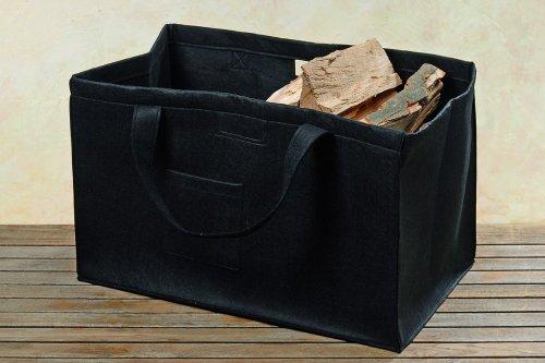 Holztragetasche Kaminholztasche Holztasche Tasche Filz - L65cm