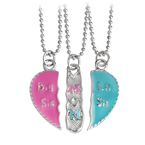 Fengteng Big/Mom/Lit Groß Mama Wenig Drei Stücke Bunt Mutter und Tochter Schwestern Freundschaft Halskette 3 - 3 Stück Mutter-töchter-halskette,
