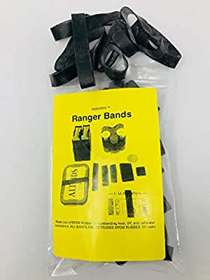 Ranger Bands, Bag of 35 Made From EPDM Rubber: for Survival and Strapping Gear Various Sizes Made in the USA