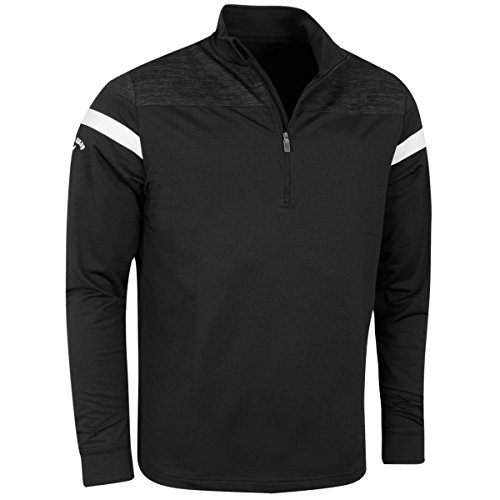 Callaway Golf 2017 Mens LS Heathered Knit Thermal Pullover - Caviar - L