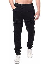 StyleDome Herren Jogginghosen Designer Chino Trainingshose Camouflage Hose Stoff Chinohose Regular Fit