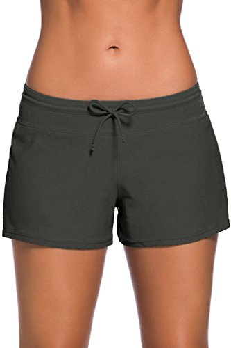 Cokar Damen Swimhose Women Badehose Badeshorts Sport Zweiteiler Bademode Swim Shorts - Womens Swim Plus Shorts