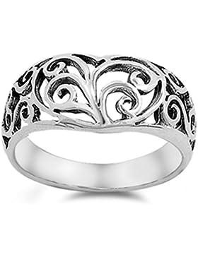 Ring aus Sterlingsilber Keltisches Herz