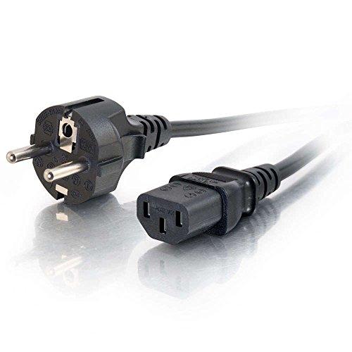 ABC Products EU Europa Französisch Deutsch Spanien Italien C13Wasserkocher Computer Netzteil Adapter IEC Netzkabel Stecker für drucken, kopieren, Bildschirm, Laufband, Audio, Amp 1,8m lang