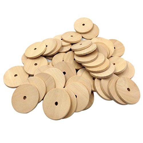 (Fenteer 10/20/50 Stück Knochen Form Holzscheiben Holzstücke Für Scrapbooking Handwerk Dekoration 50mm - Farbe 5, 50pcs)