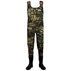 Dirt boot camo neoprene chest waders 100 waterproof for Fishing waders amazon