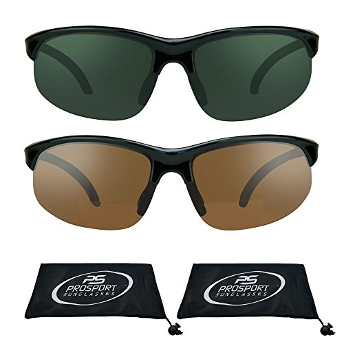 proSPORTsunglasses Semi Randlos Blau Blocker Hd-Vision-Bifocal Sonnenbrillen (2.50) Herren Smoke + Hd-Combo