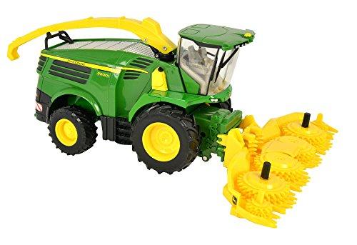 Preisvergleich Produktbild TOMY Britains - 8600 Feldhäcksler - Traktor aus Metall und Kunststoff mit 2 Vorsatzanhängern für Maisgebiss und Gras-Pickup - für Kinder ab 3 Jahre