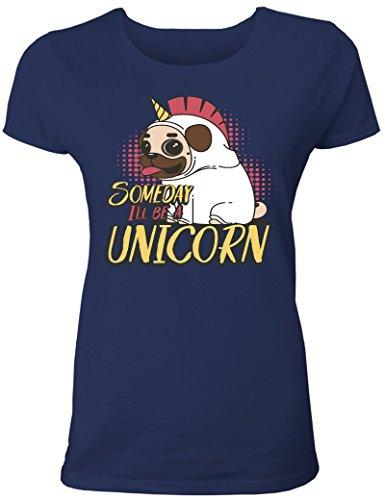 Einhorn T-Shirt Damen: Someday I Will be an Unicorn