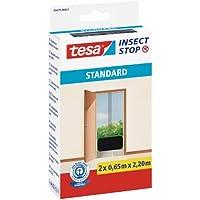 tesa Fliegengitter für Türen Standard, anthrazit, durchsichtig, 2 x 0,65m x 2,2m