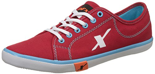 Sparx Men's Red and Sky Blue Sneakers - 7 UK/India (41 EU) (SC0283G)