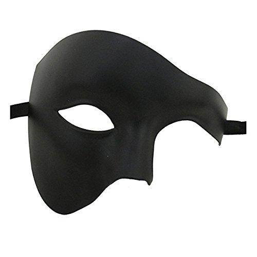 Qualität Hälfte Gesicht Phantom Schwarz Theatralisch Venezianische Karneval Maskerade Partei Maske