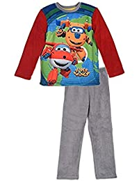 Super Wings Pijama Polar de Coralina - 2 piezas color azul o rojo - ropa de