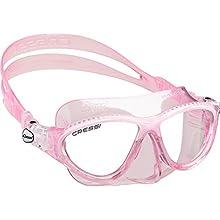 Cressi Moon Kid Premium Junior Mask, Pink/White, Uni