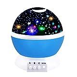 2-10 Jahre alten Jungen Spielzeug, Friday Nacht Licht Mond Sterne Rotierenden Projektor für Kinder Babys Kleinkinder Spielzeug für 2-10 Jahre alte Jungen 2-10 Jahre alt Junge Mädchen Geschenke Blue FDDENL01