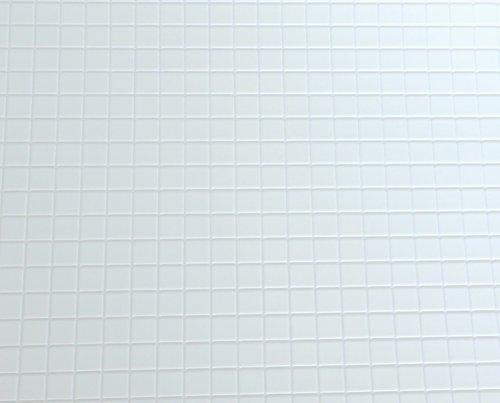 Preisvergleich Produktbild Puppenhaus Miniatur 1:12 1:24 Maßstab Küche Bad Bodenbelag weiß FLIESE FOLIE