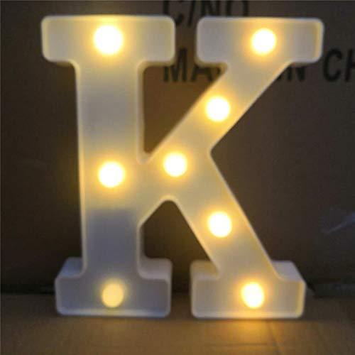 Englisch Brief Lichter LED-Beleuchtung Modellierung Lichter Hochzeit digitale Lichter Geburtstag Heiratsantrag Tabelle weißes Licht Buchstabe K -